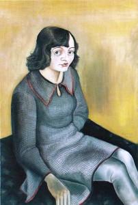 Das Modell - Hanna Nagel - 1929 - olie op doek
