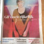 Volkskrant doet verslag over de wereldtoernee van GIF